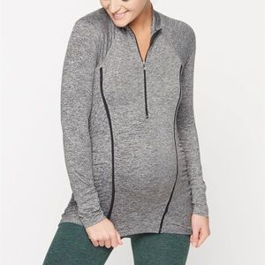 BEYOND YOGA Beyond the Bump Half Zip Pullover